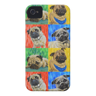 Pug Primary Repeating Pattern iPhone 4 Case-Mate Case