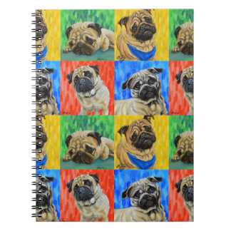 Pug Primary Repeating Pattern Notebook