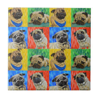 Pug Primary Repeating Pattern Tile