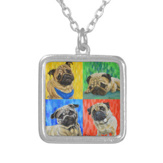 Pug Primary Silver Plated Necklace