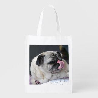 PUG - PUG - photo Jean Louis Glineur Grocery Bags