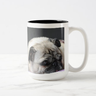 PUG ~ PUG ~ photo Jean Louis Glineur Two-Tone Coffee Mug
