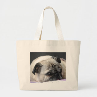 Pug pug - Photography: Jean Louis Glineur Large Tote Bag