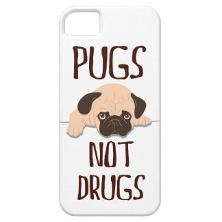 pug pugs not drugs cute dog design iPhone 5 case