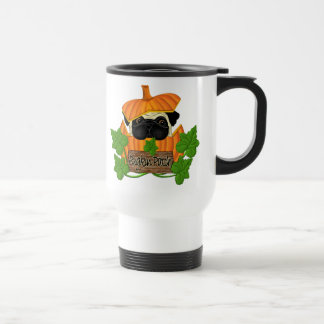 Pug Pumpkin Patch Stainless Steel Travel Mug