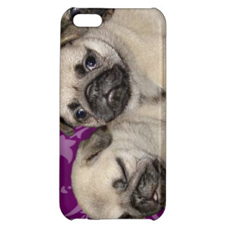 Pug puppies iPhone 5C cases