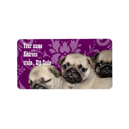 Pug Puppies Label