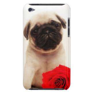 Pug puppy and rose iPod touch cases