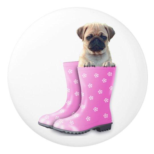 Pug Puppy Ceramic Knob