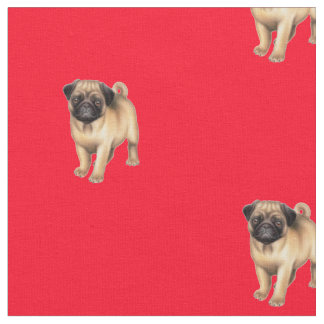 Pug Puppy Dog Fabric