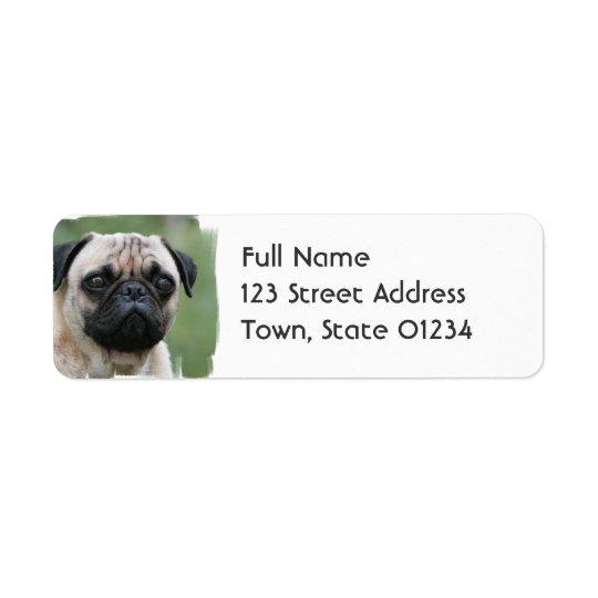 Pug Puppy Dog Mailing Label Return Address Label