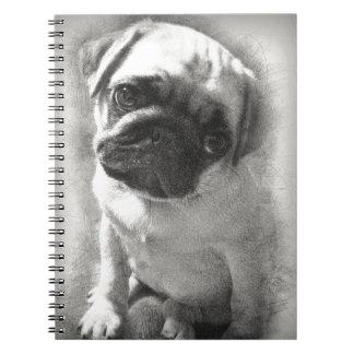 Pug Puppy Dog Sketch Notebook