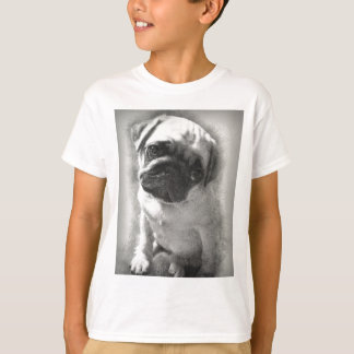 Pug Puppy Dog Sketch T-Shirt