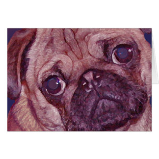 Pug Puppy Face Greeting Card