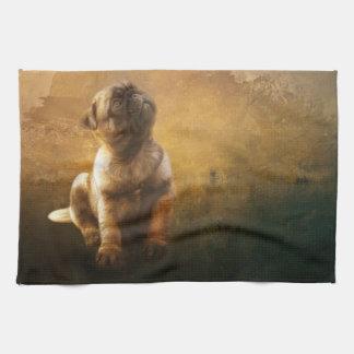 Pug Puppy Kitchen Towels