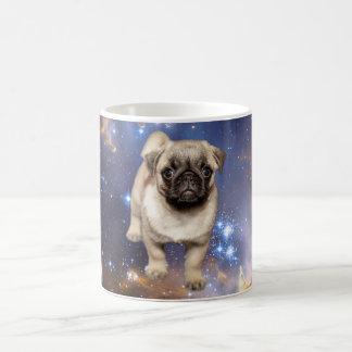 Pug Puppy Stars and Space Background Coffee Mug