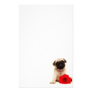 Pug puppy stationary stationery paper