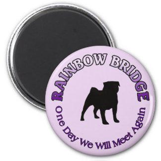 PUG RAINBOW BRIDGE SYMPATHY - DOG PET MAGNET