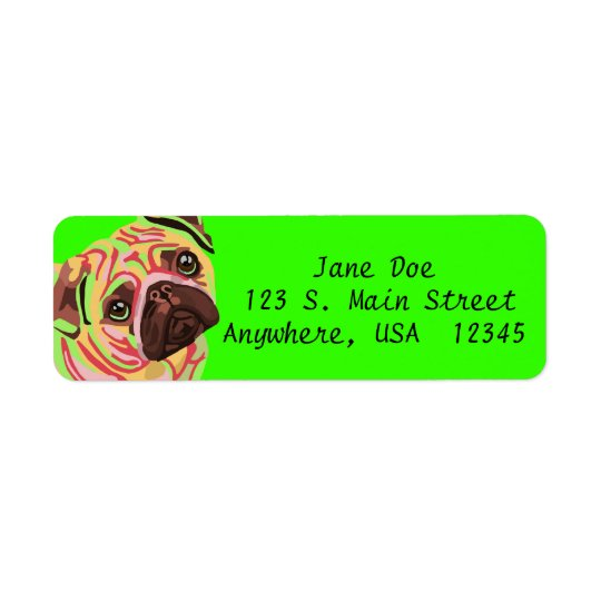 Pug Return Address Labels