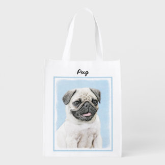 Pug Reusable Grocery Bag