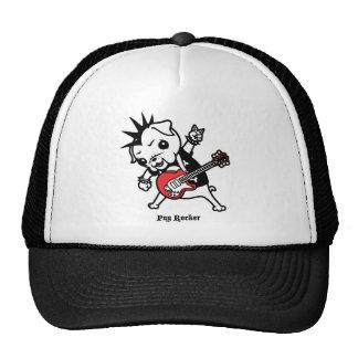 Pug Rocker Mesh Hats