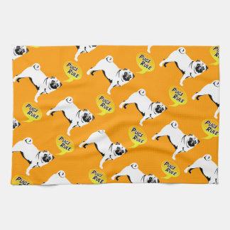 Pug Rules Hand Towel