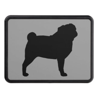 Pug Silhouette Trailer Hitch Cover