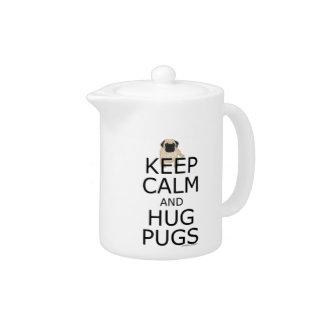Pug Slogan Keep Calm Hug Pugs
