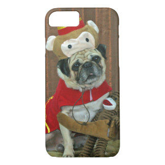 Pug Sock Monkey iPhone 7 or 6S case