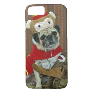 Pug Sock Monkey iPhone 7 or 6S case
