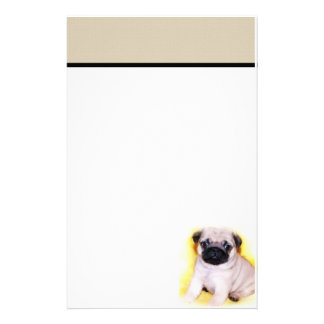 Pug stationary stationery paper
