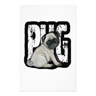 Pug Stationery Paper