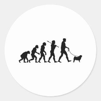 Pug Round Stickers