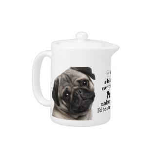 Pug Teapot