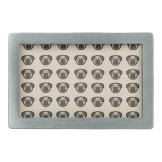 pug tile bg rectangular belt buckles