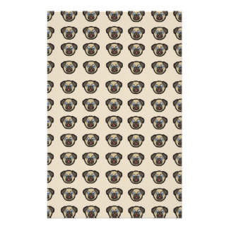 pug tile bg stationery