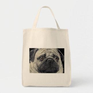 """Pug Tote Bag - """"Pugshot"""""""