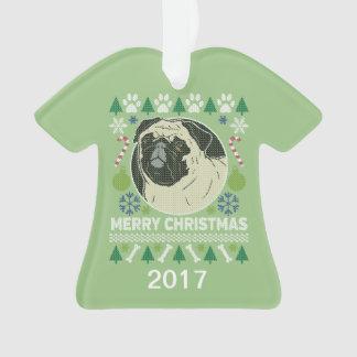 Pug Ugly Christmas Sweater Ornament