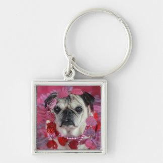Pug Valentine Key Chain
