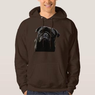 Pug Wisdom- Black Pug Hoodie