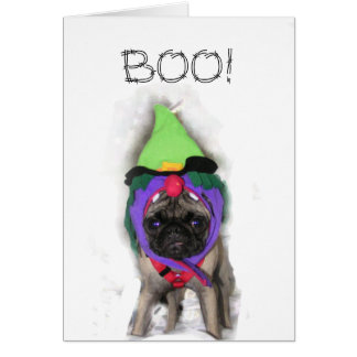 Pug Witch Card