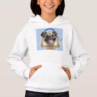 Pug with headphones,pug ,pet