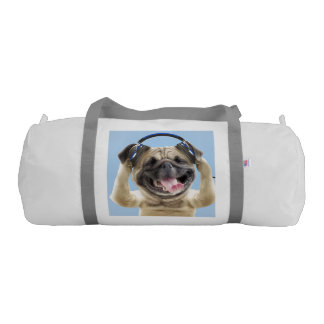 Pug with headphones,pug ,pet gym bag