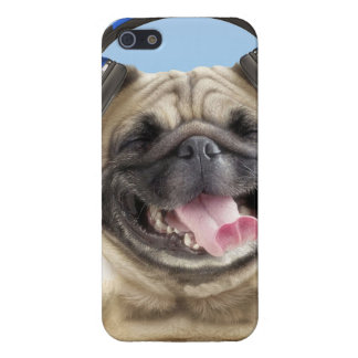 Pug with headphones,pug ,pet iPhone 5/5S covers