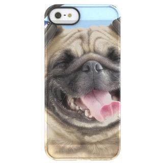 Pug with headphones,pug ,pet permafrost® iPhone SE/5/5s case