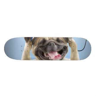 Pug with headphones,pug ,pet skate deck