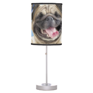 Pug with headphones,pug ,pet table lamp
