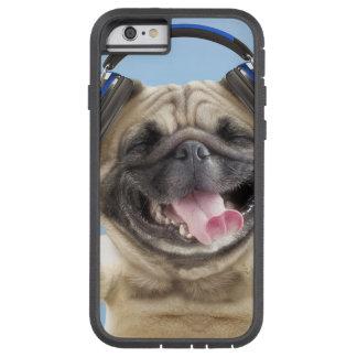 Pug with headphones,pug ,pet tough xtreme iPhone 6 case