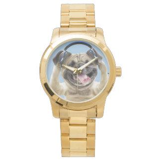 Pug with headphones,pug ,pet wrist watches