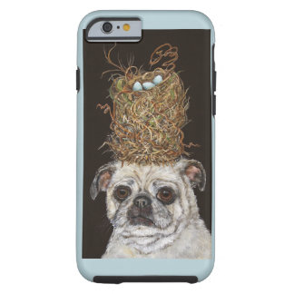 Pug with tall nest hat iPhone 6 tough case